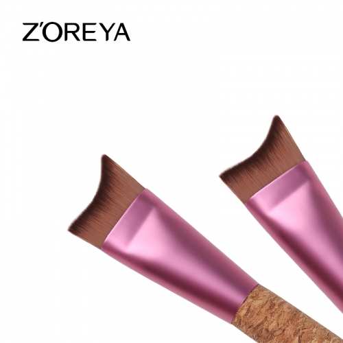 Cork handle environmental friendly sculpting face brush