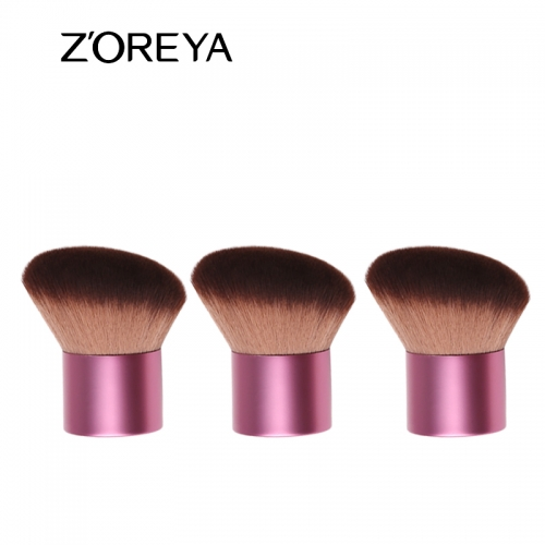 High quality synthetic hair slanted kabuki  brush