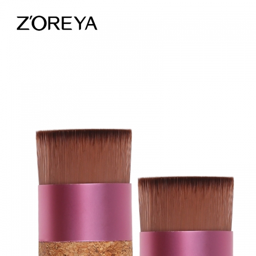 Cork handle eco-friendly flat foundation brush