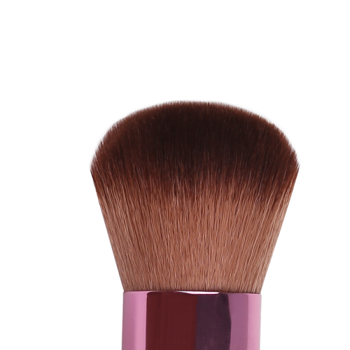 Synthetic hair retractable powder brush
