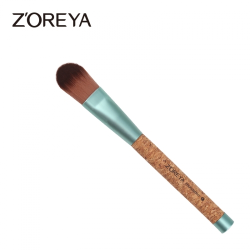 Cork handle eco-friendly foundation brush