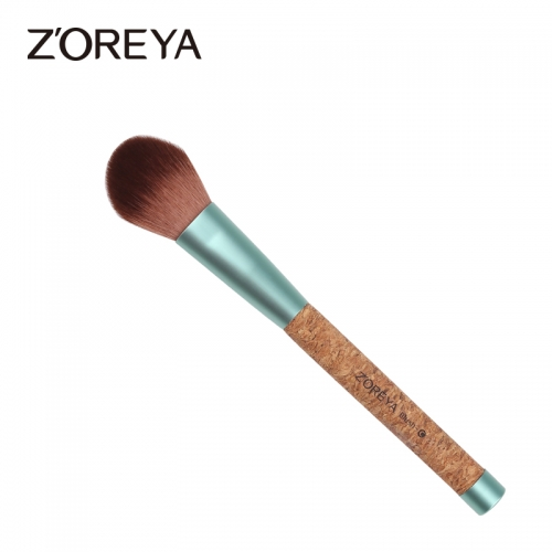 Cork handle eco-friendly blush brush