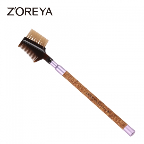 Cork handle eco-friendly brow comb brush