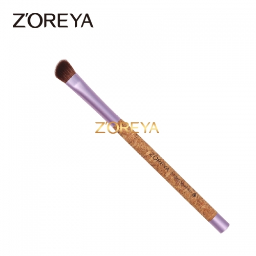 Cork handle eco-friendly angled shadow brush
