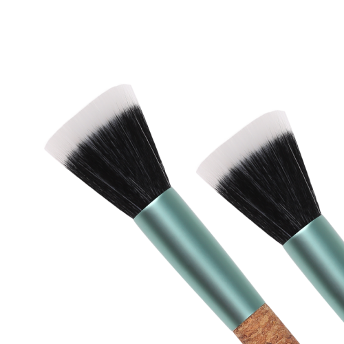 Cork handle eco-friendly duo fibre brush