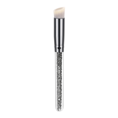 Grey diamond plastic handle slanted foundation brush