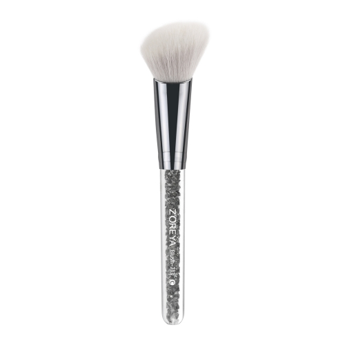 Diamond inside crystal handle angled blush brush