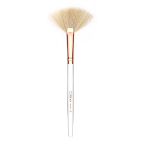 Rose gold ferrule fan brush