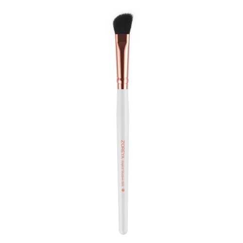 Rose gold ferrule angled shadow brush