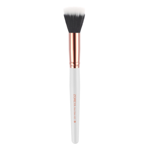 Rose gold ferrule duo fibre brush