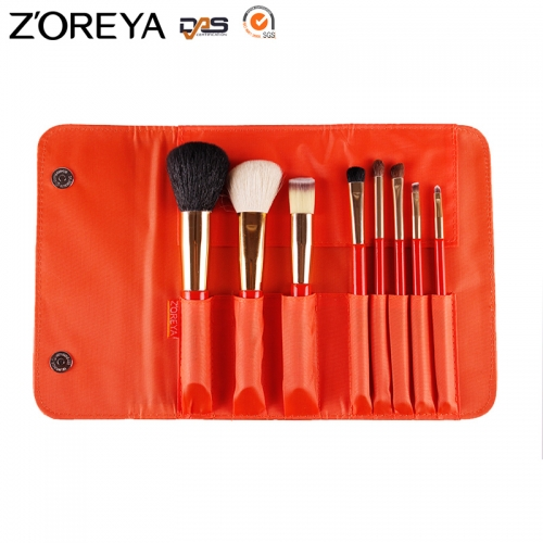 Zoreya 8 pieces makeup brush set bag makeup brushes