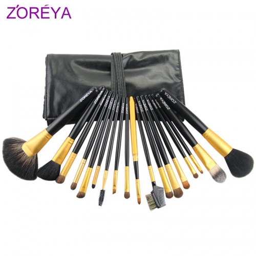 Zoreya 18 pieces makeup brush set