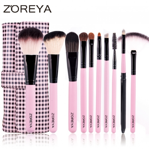 Zoreya 10 pieces makeup brush set