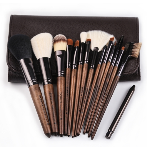 Zoreya 15 pieces makeup brush set