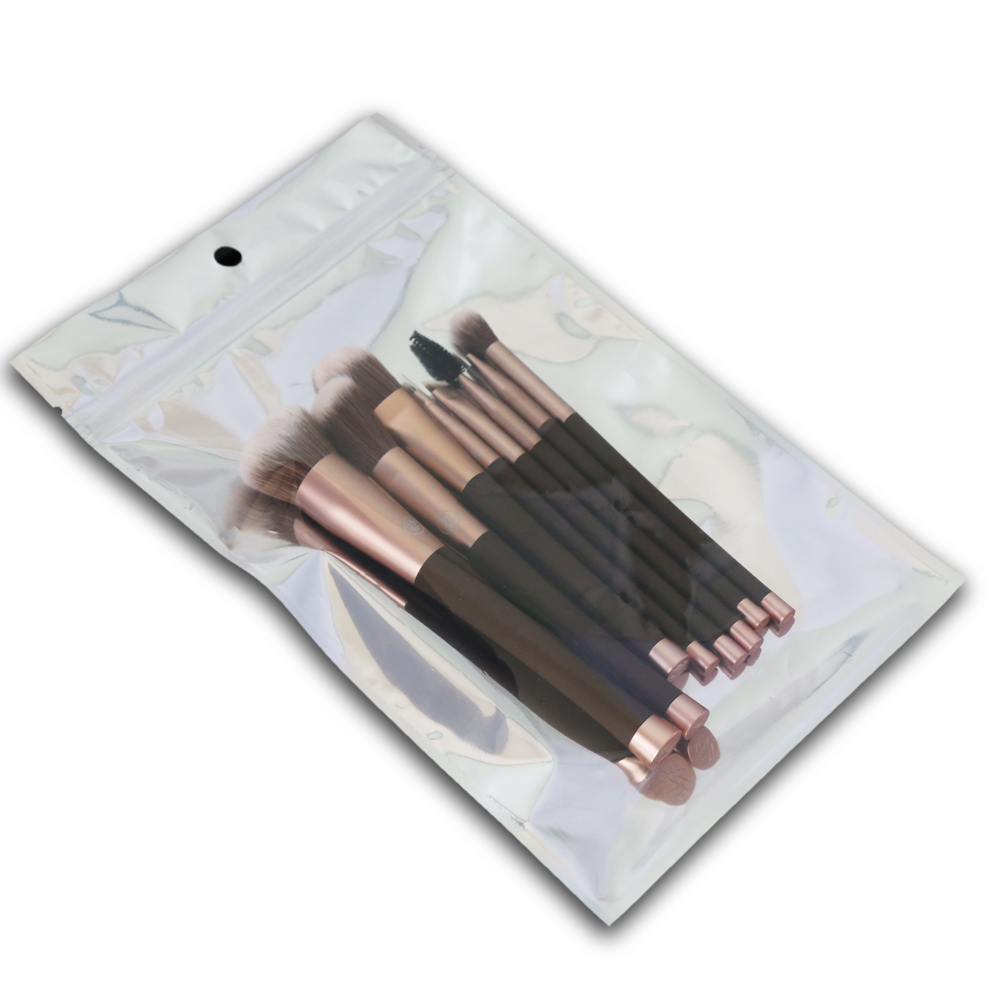 8pcs coffee graceful makeup brush set