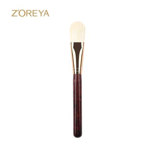 Rosewood-like Foundation Makeup Brush