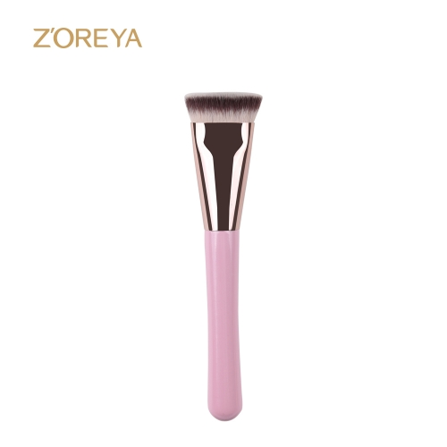 ZOREYA Pink Handle Flat Contour Brush